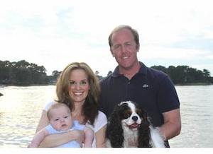 Baker family on lake
