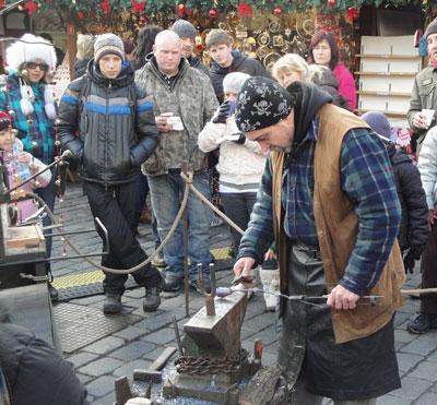 old town square Prague Blacksmith