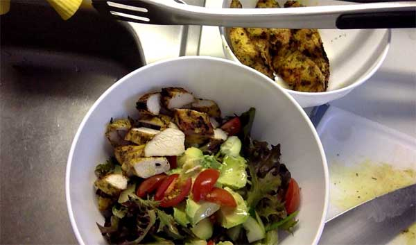 chicken salad before tossing