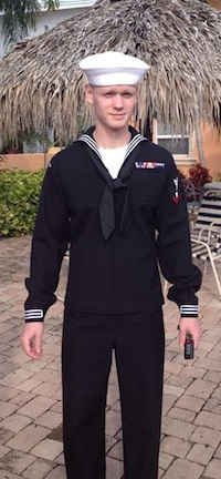navy sailor with UC