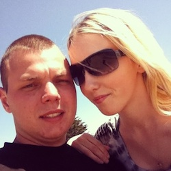 me with my girlfriend in a recent pic