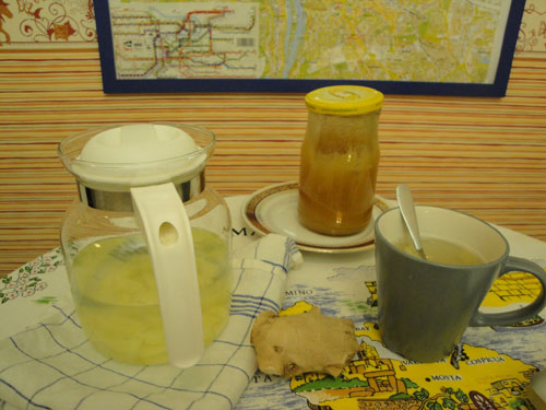 ginger tea lemon honey