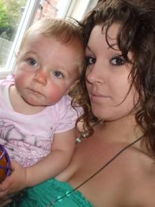 Jasmine with her baby