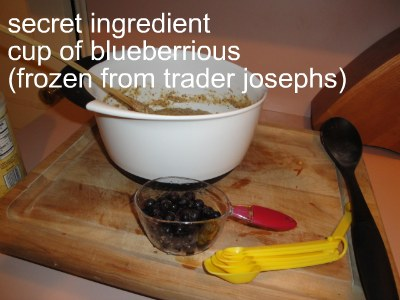 blueberry for cake mix