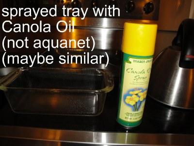 canola oil spray