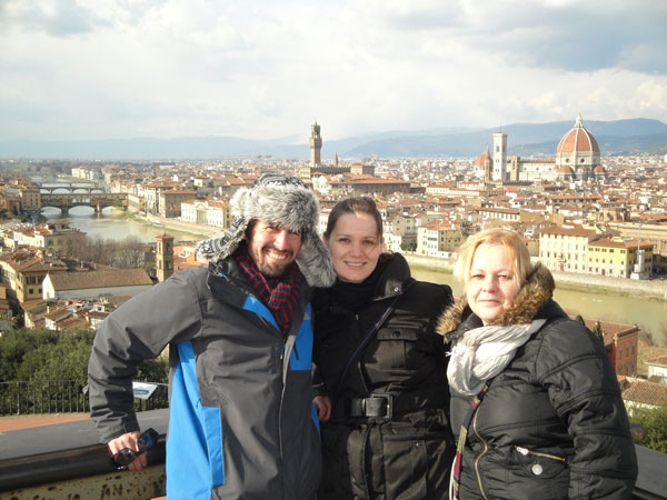 Piazza Michaelangelo Florence Italy