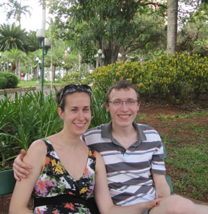 Polly with her husband in Brasil